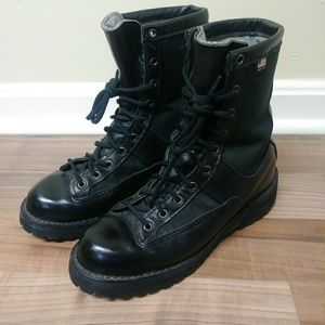 Vtg Danner Black Leather Gore-Tex Lined Boots U.S.